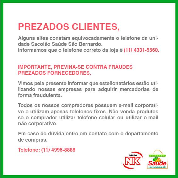Previna-se contra fraudes